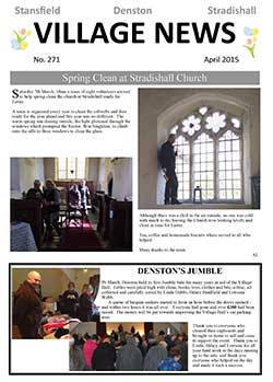 Stansfield village newsletter April 2015