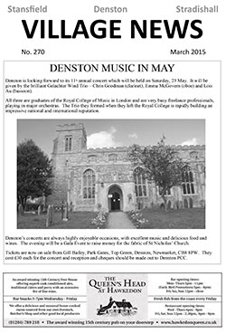 Stansfield Village news March 2015